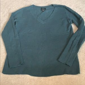 Halogen 100% cashmere green sweater - size small
